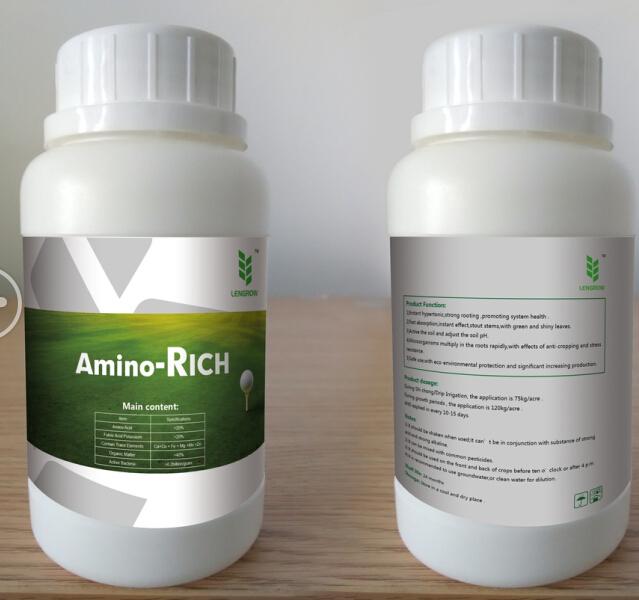 Special amino acid fertilizer for grass