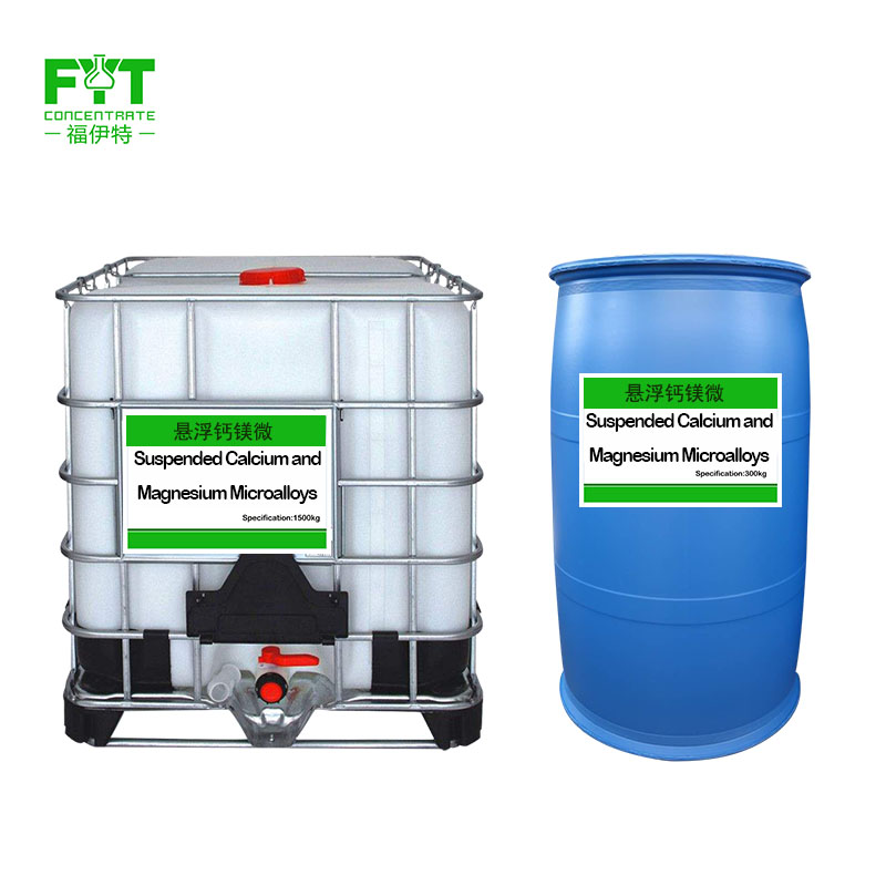 Liquid suspended calcium and magnesium fertilizers are applied by washing